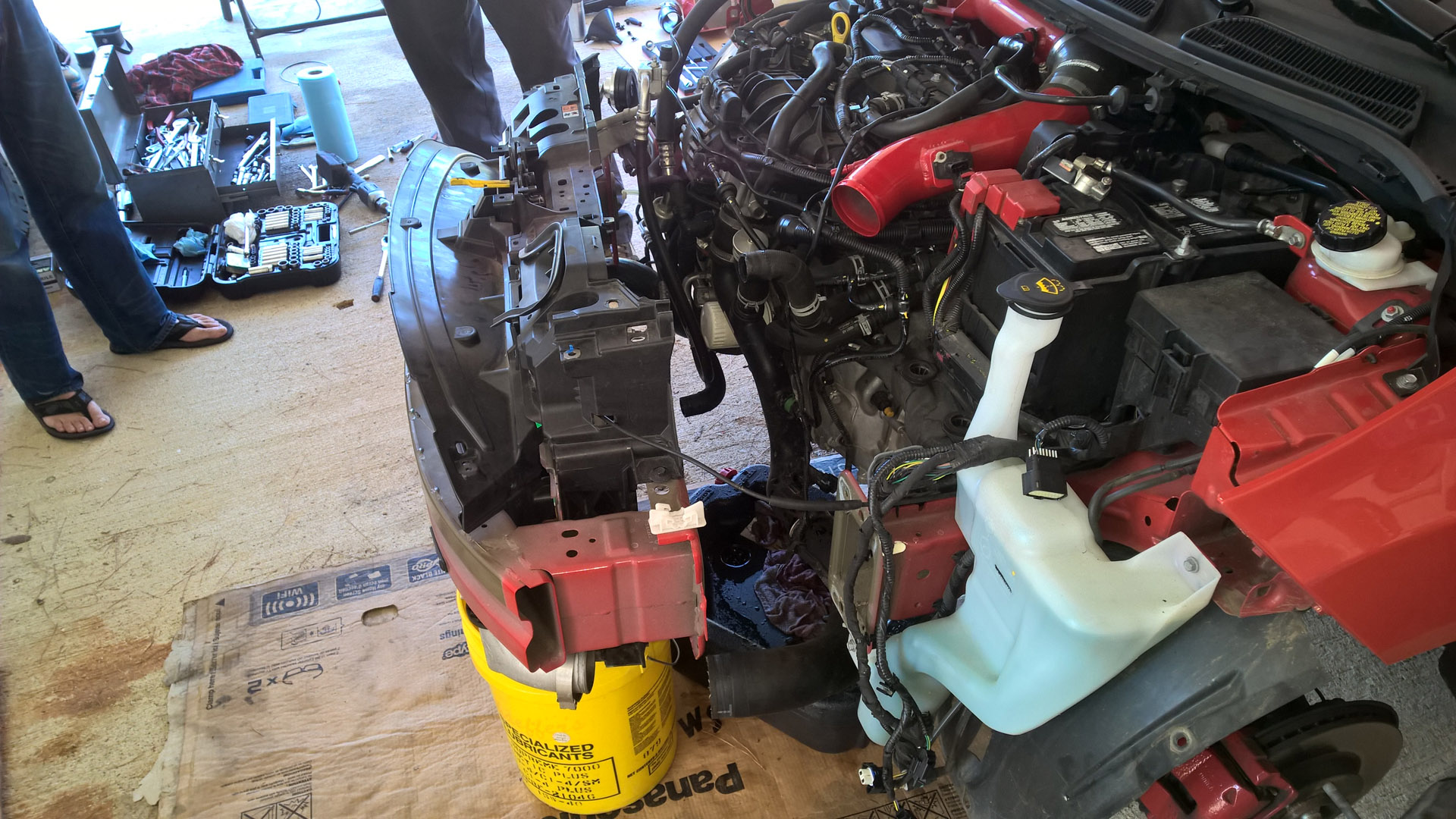 just some pics from mishimoto radiator install  | Fiesta ST Forum